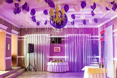 Взрыв большого воздушного шара во время первого свадебного танца