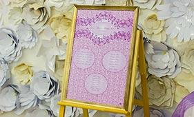Фиолетовый план рассадки гостей на свадьбе