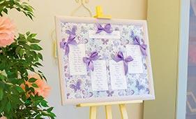 План рассадки гостей на свадьбе с бабочками