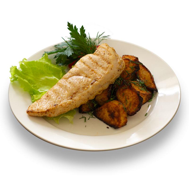 Куриная грудка гриль с запеченным картофелем