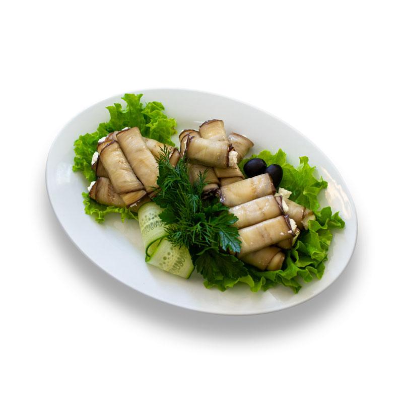 Рулетики из баклажан со сливочным  сыром